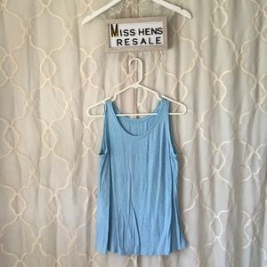 EUC EILEEN FISHER LIGHT BLUE LOOSE FIT TANK TOP